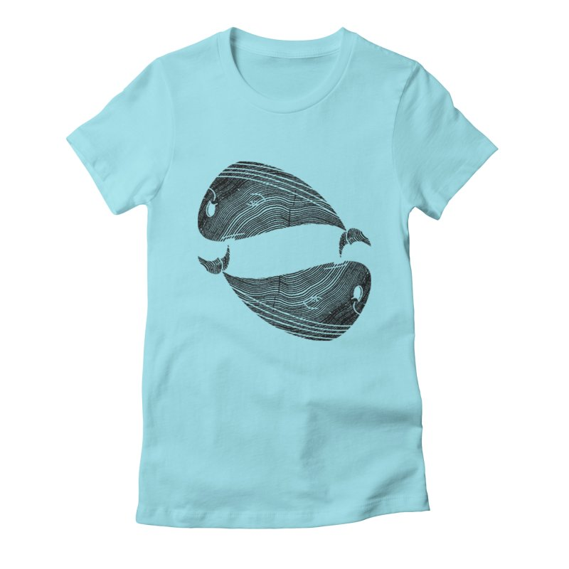 TreeWhale Women's Fitted T-Shirt by wakingupowls's Artist Shop