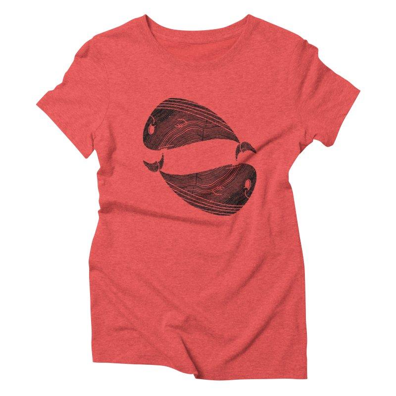TreeWhale Women's Triblend T-Shirt by wakingupowls's Artist Shop