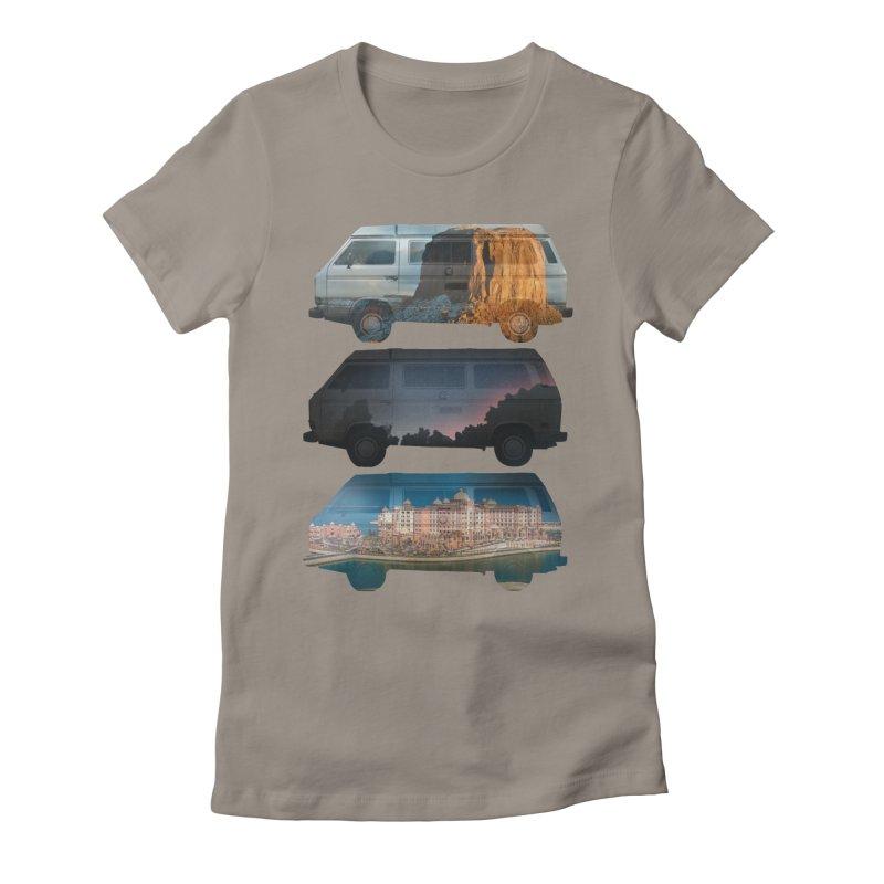 Travelers Women's Fitted T-Shirt by wakingupowls's Artist Shop