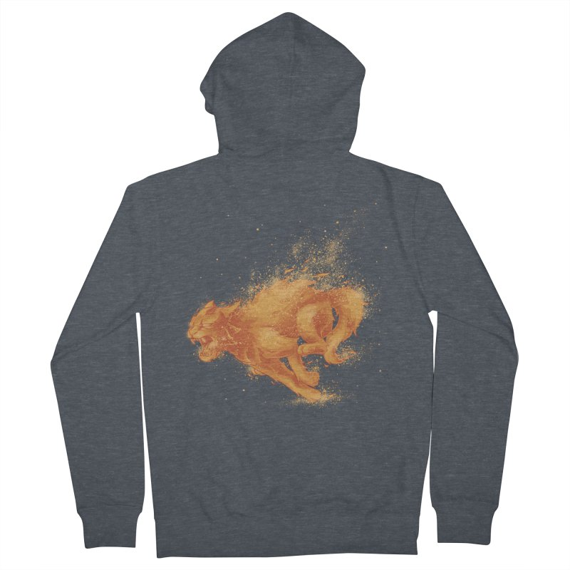 Cat on FAYYA! Men's Zip-Up Hoody by waldychavez's Artist Shop