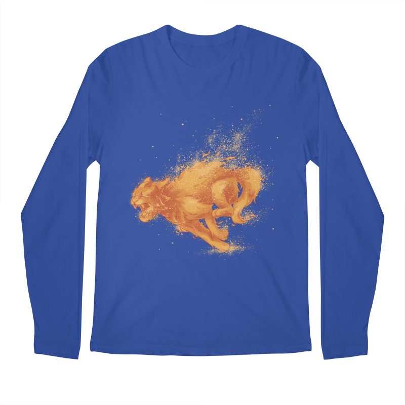 Cat on FAYYA! Men's Longsleeve T-Shirt by waldychavez's Artist Shop
