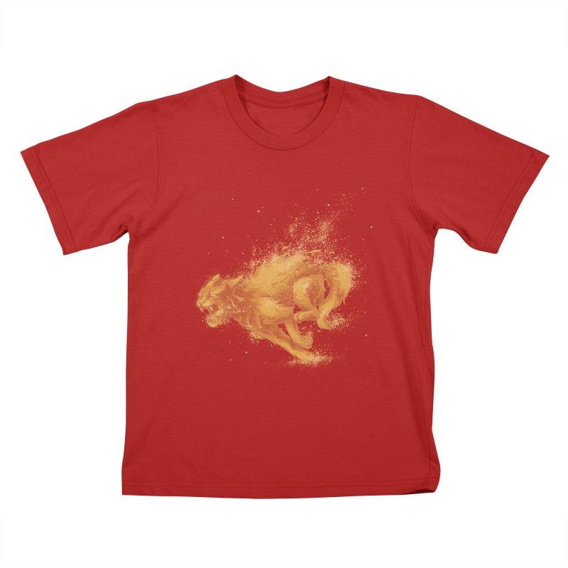 Cat on FAYYA! Kids T-shirt by waldychavez's Artist Shop