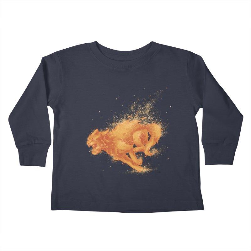 Cat on FAYYA! Kids Toddler Longsleeve T-Shirt by waldychavez's Artist Shop