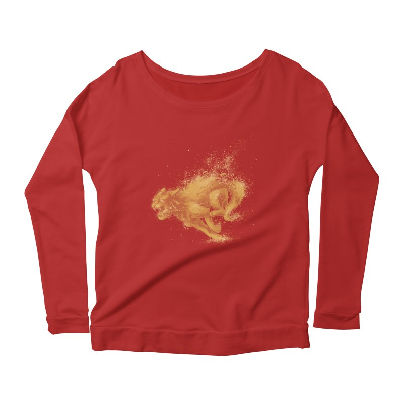Cat on FAYYA! Women's Longsleeve Scoopneck  by waldychavez's Artist Shop