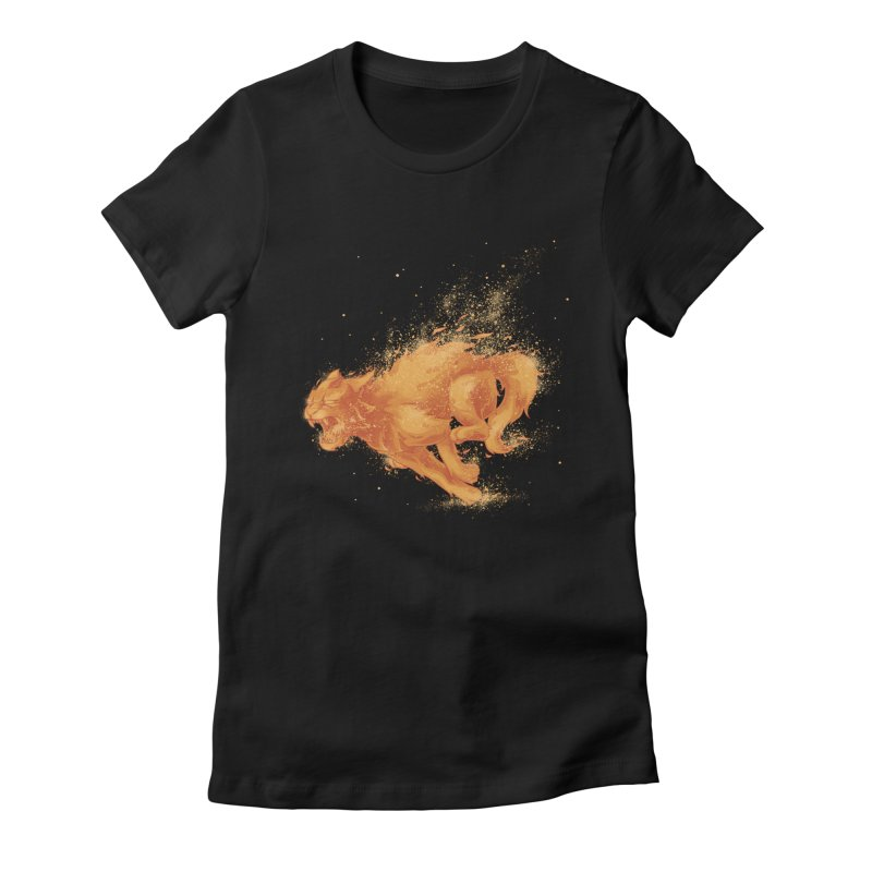 Cat on FAYYA! Women's Fitted T-Shirt by waldychavez's Artist Shop