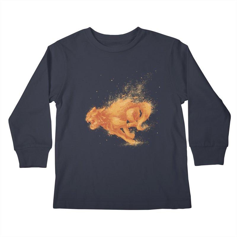 Cat on FAYYA! Kids Longsleeve T-Shirt by waldychavez's Artist Shop