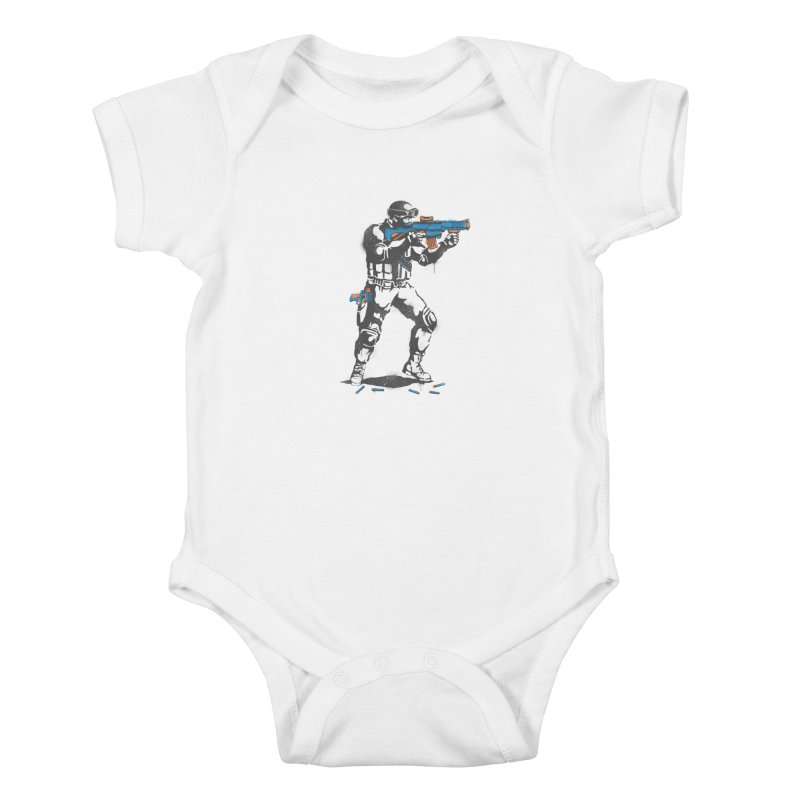 PLAY NOT WAR Kids Baby Bodysuit by waldychavez's Artist Shop