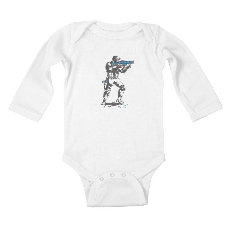 PLAY NOT WAR Kids Baby Longsleeve Bodysuit by waldychavez's Artist Shop