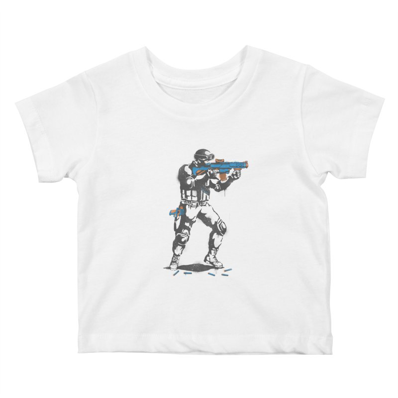 PLAY NOT WAR Kids Baby T-Shirt by waldychavez's Artist Shop