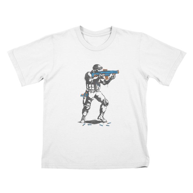 PLAY NOT WAR Kids T-shirt by waldychavez's Artist Shop