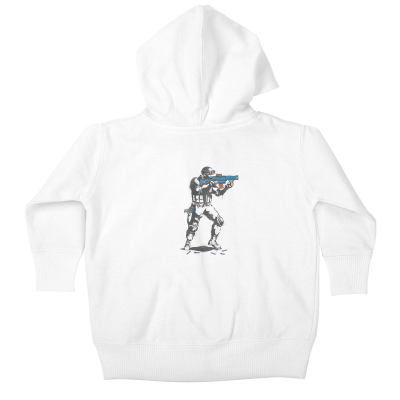 PLAY NOT WAR Kids Baby Zip-Up Hoody by waldychavez's Artist Shop