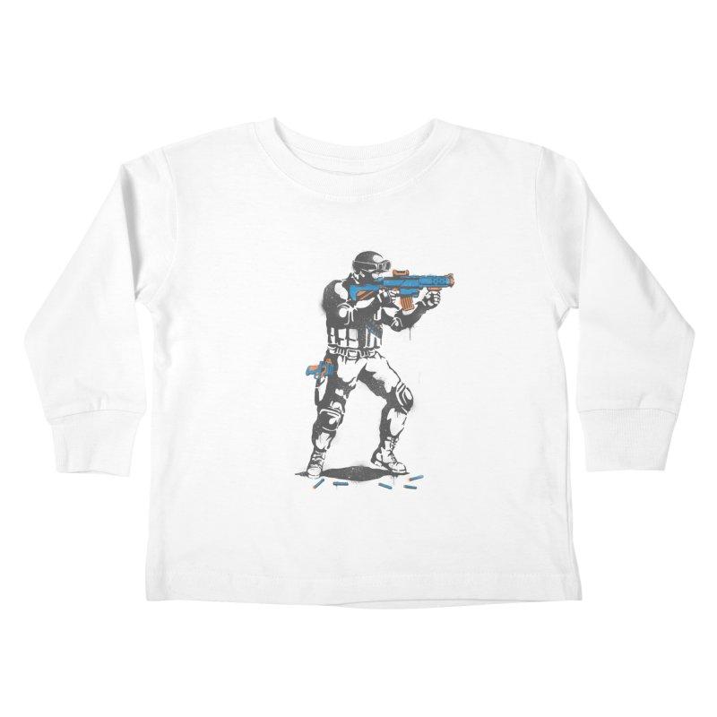 PLAY NOT WAR Kids Toddler Longsleeve T-Shirt by waldychavez's Artist Shop