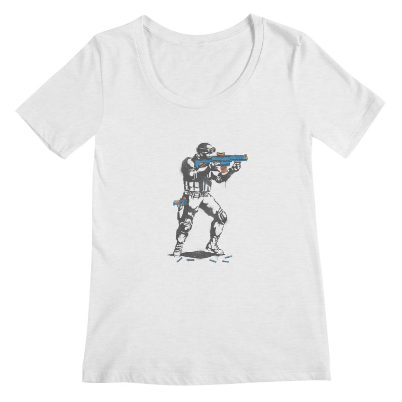 PLAY NOT WAR Women's Scoopneck by waldychavez's Artist Shop