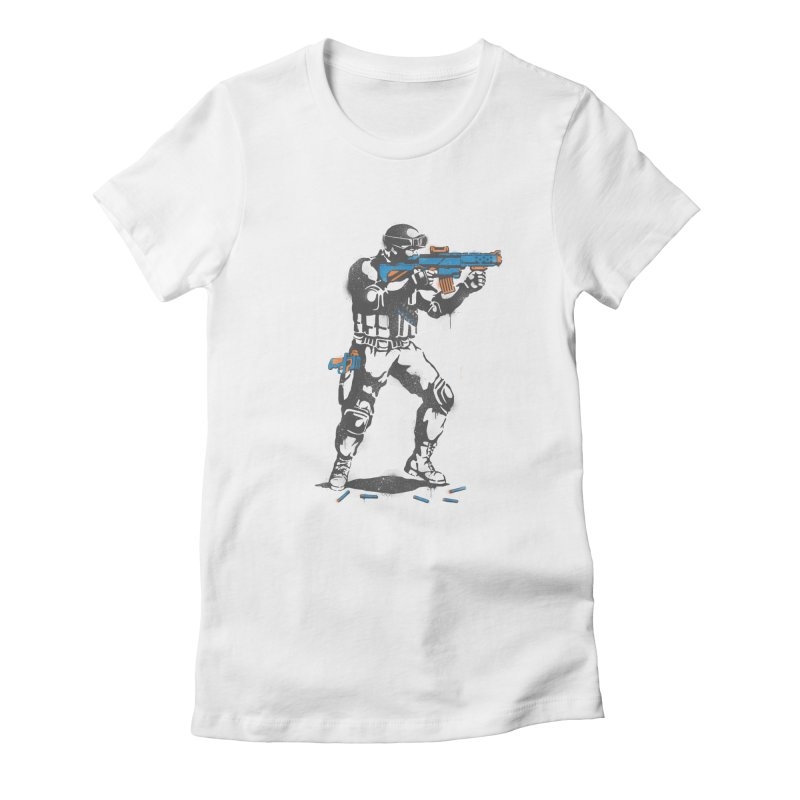 PLAY NOT WAR Women's Fitted T-Shirt by waldychavez's Artist Shop