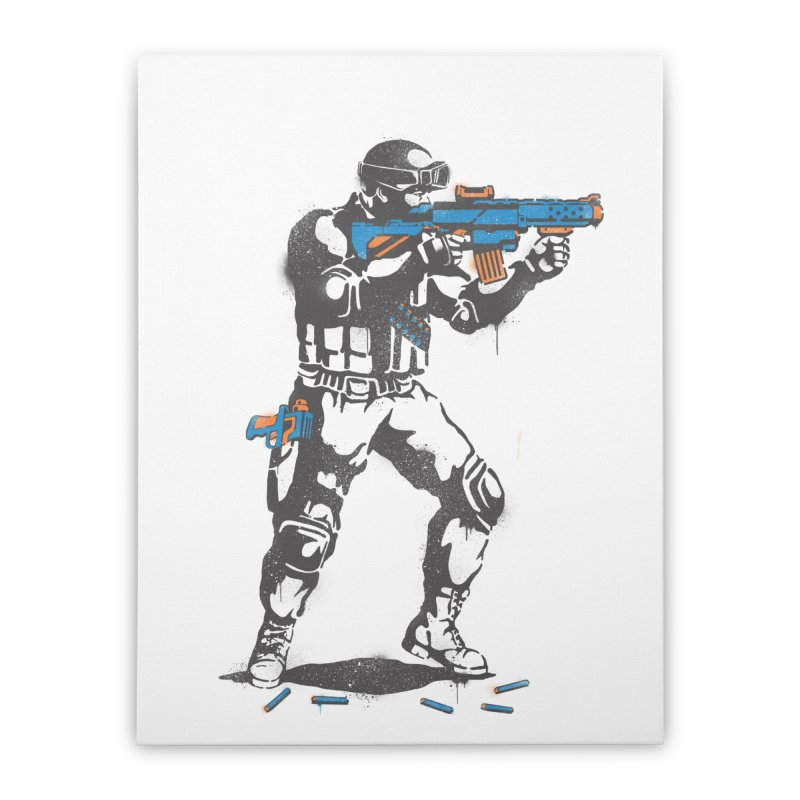 PLAY NOT WAR Home Stretched Canvas by waldychavez's Artist Shop
