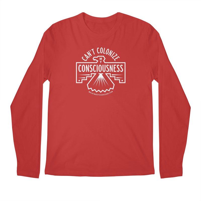 Can't Colonize  + WalkingStick Design Co. Men's Regular Longsleeve T-Shirt by WalkingStick Design's Artist Shop