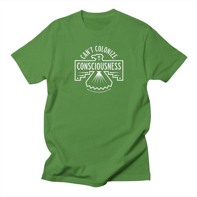 Can't Colonize  + WalkingStick Design Co. Men's Regular T-Shirt by WalkingStick Design's Artist Shop