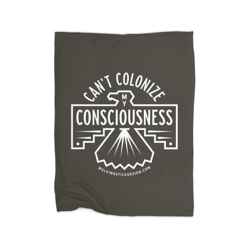 Can't Colonize  + WalkingStick Design Co. Home Fleece Blanket Blanket by WalkingStick Design's Artist Shop