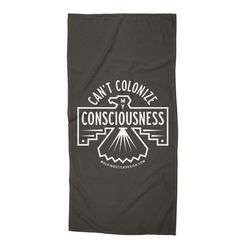 Can't Colonize  + WalkingStick Design Co. Accessories Beach Towel by WalkingStick Design's Artist Shop