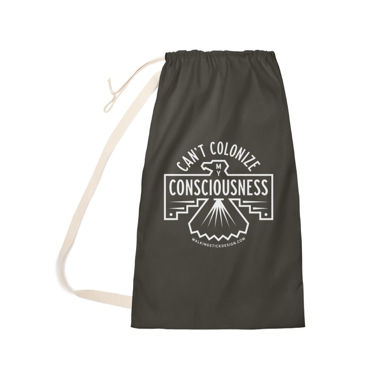 Can't Colonize  + WalkingStick Design Co. Accessories Laundry Bag Bag by WalkingStick Design's Artist Shop