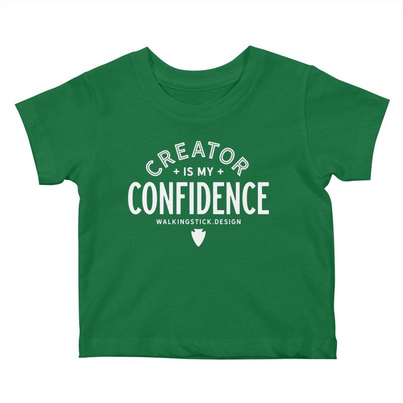 Creator  + WalkingStick Design Co. Kids Baby T-Shirt by WalkingStick Design's Artist Shop