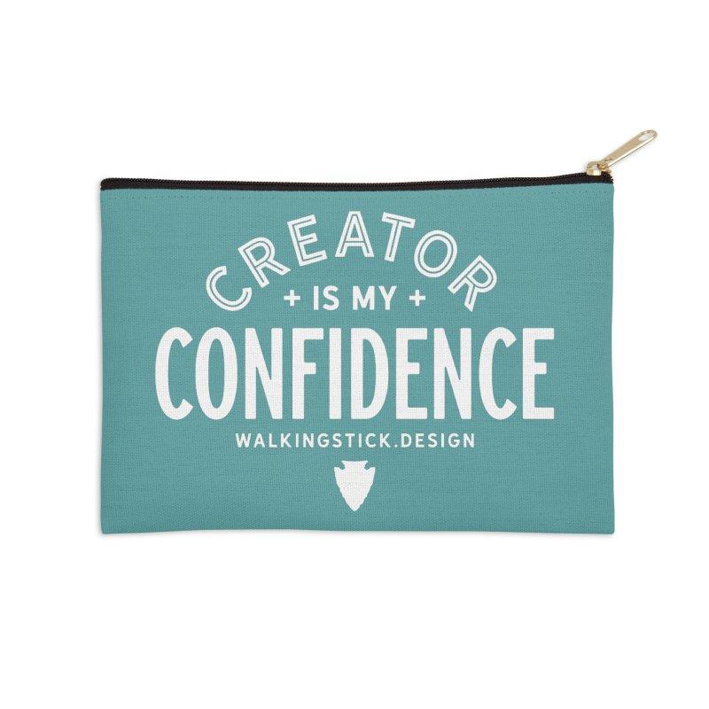 Creator  + WalkingStick Design Co. Accessories Zip Pouch by WalkingStick Design's Artist Shop