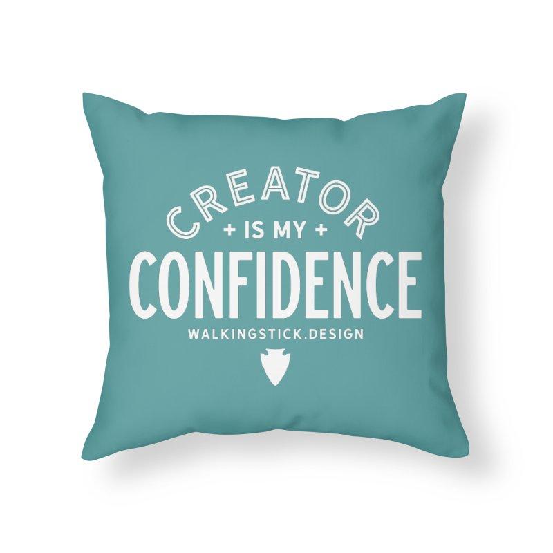 Creator  + WalkingStick Design Co. Home Throw Pillow by WalkingStick Design's Artist Shop