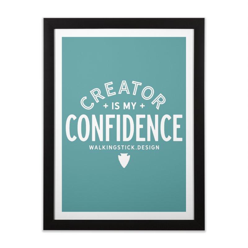 Creator  + WalkingStick Design Co. Home Framed Fine Art Print by WalkingStick Design's Artist Shop