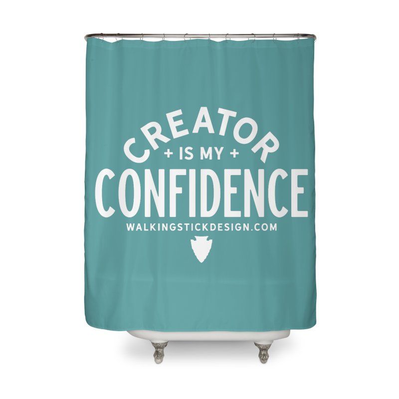 Creator  + WalkingStick Design Co. Home Shower Curtain by WalkingStick Design's Artist Shop