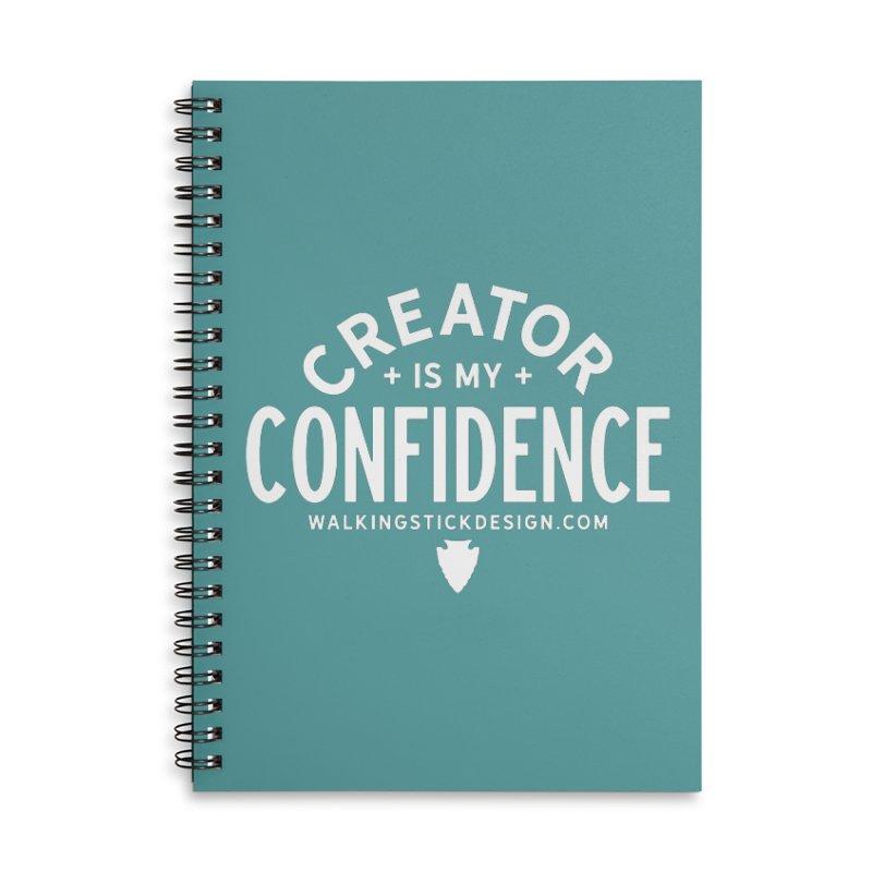 Creator  + WalkingStick Design Co. Accessories Lined Spiral Notebook by WalkingStick Design's Artist Shop