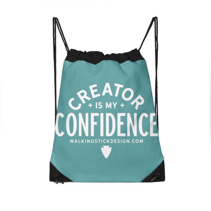 Creator  + WalkingStick Design Co. Accessories Drawstring Bag Bag by WalkingStick Design's Artist Shop