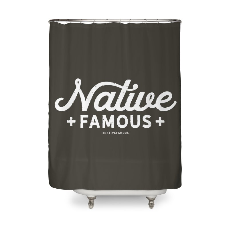 Native Famous + WalkingStick Design Co. Home Shower Curtain by WalkingStick Design's Artist Shop
