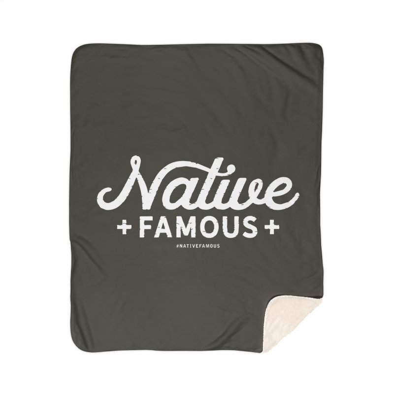 Native Famous + WalkingStick Design Co. Home Sherpa Blanket Blanket by WalkingStick Design's Artist Shop
