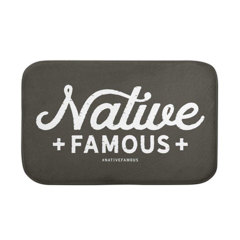 Native Famous + WalkingStick Design Co. Home Bath Mat by WalkingStick Design's Artist Shop