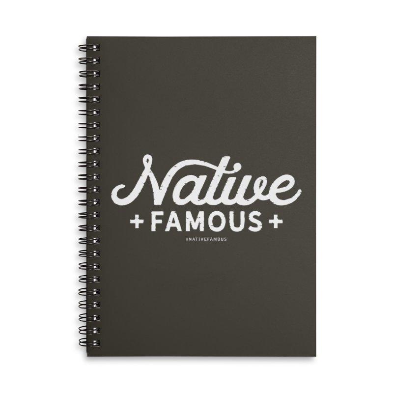 Native Famous + WalkingStick Design Co. Accessories Lined Spiral Notebook by WalkingStick Design's Artist Shop