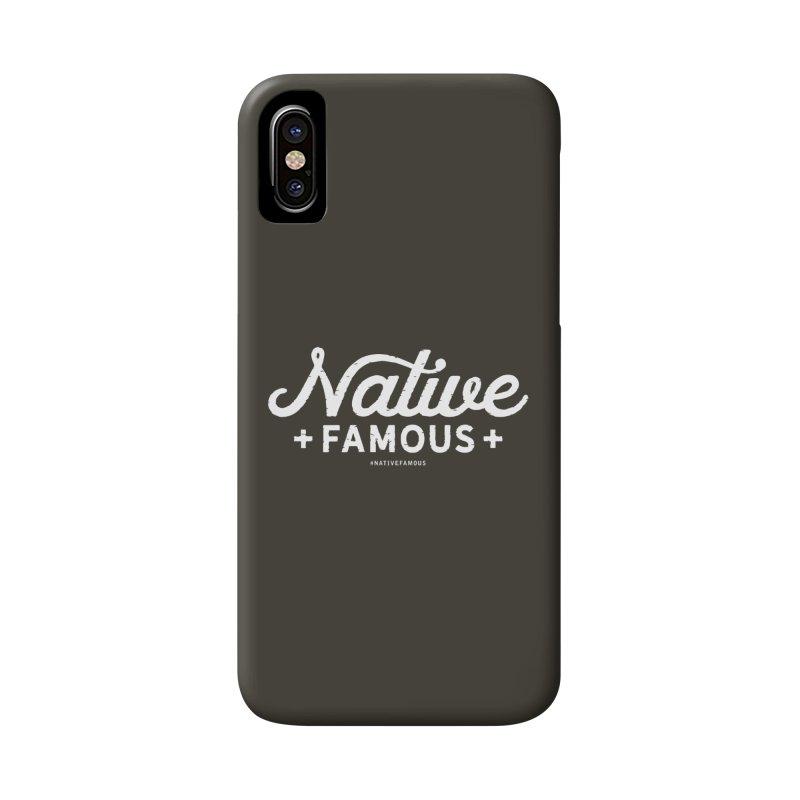 Native Famous + WalkingStick Design Co. Accessories Phone Case by WalkingStick Design's Artist Shop