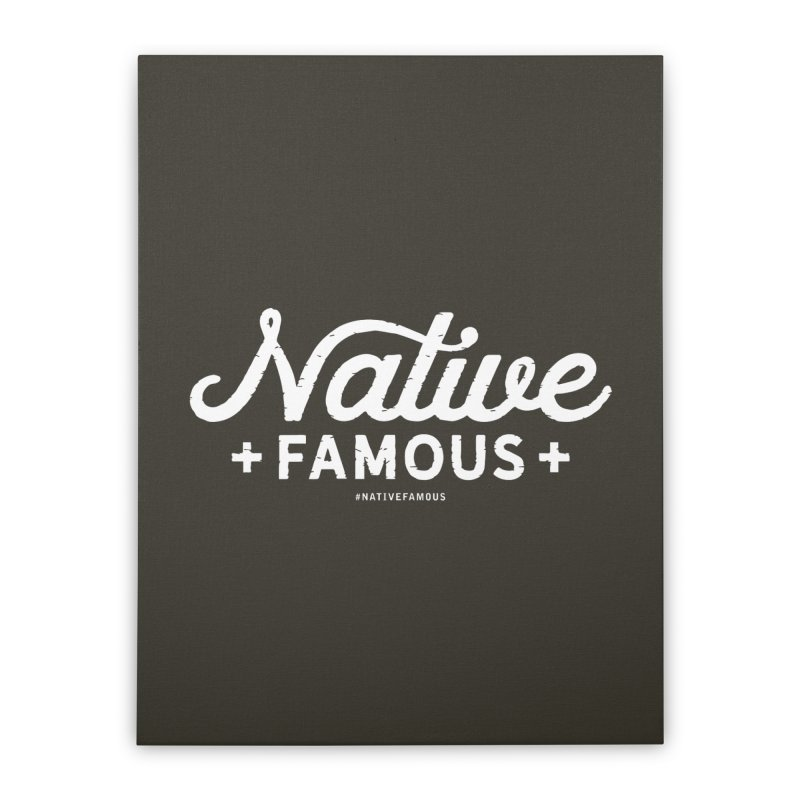 Native Famous + WalkingStick Design Co. Home Stretched Canvas by WalkingStick Design's Artist Shop