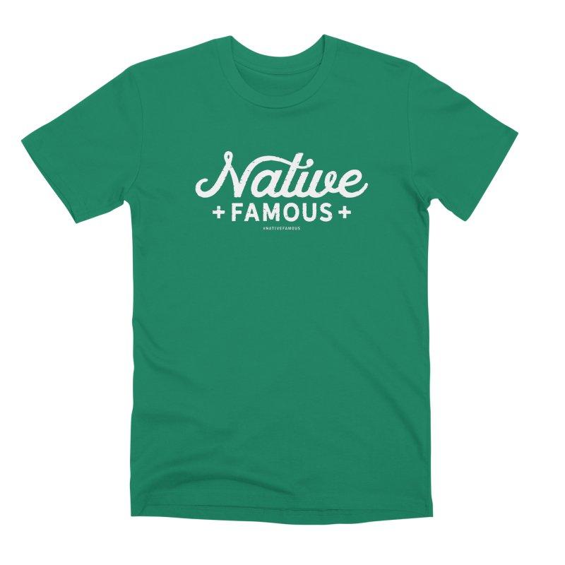 Native Famous + WalkingStick Design Co. Men's Premium T-Shirt by WalkingStick Design's Artist Shop