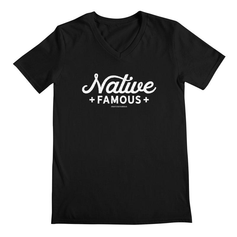 Native Famous + WalkingStick Design Co. Men's Regular V-Neck by WalkingStick Design's Artist Shop