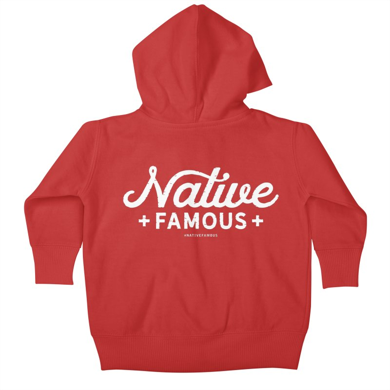 Native Famous + WalkingStick Design Co. Kids Baby Zip-Up Hoody by WalkingStick Design's Artist Shop