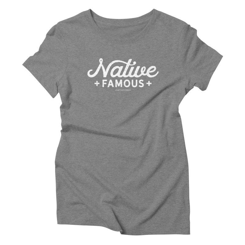 Native Famous + WalkingStick Design Co. Women's Triblend T-Shirt by WalkingStick Design's Artist Shop