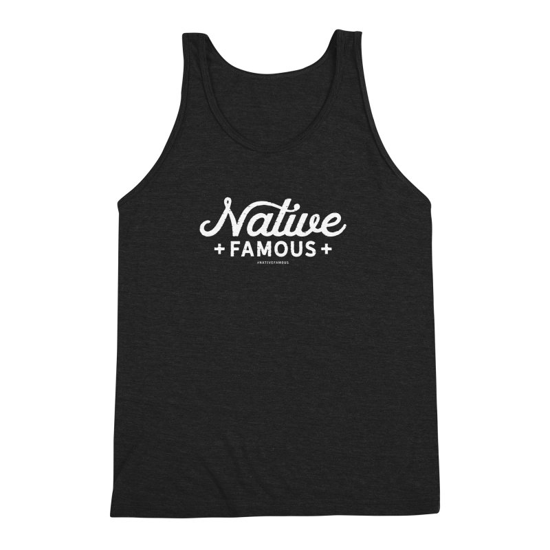 Native Famous + WalkingStick Design Co. Men's Triblend Tank by WalkingStick Design's Artist Shop