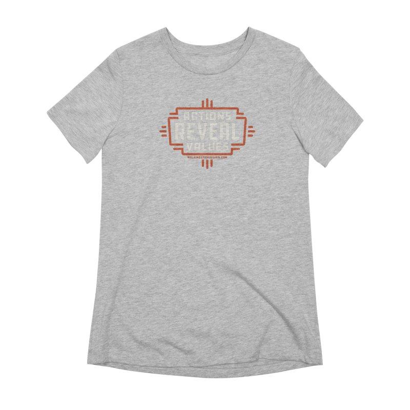 ACTIONS + WALKINGSTICK DESIGN CO. Women's Extra Soft T-Shirt by WalkingStick Design's Artist Shop