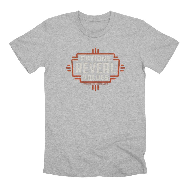 ACTIONS + WALKINGSTICK DESIGN CO. Men's T-Shirt by WalkingStick Design's Artist Shop