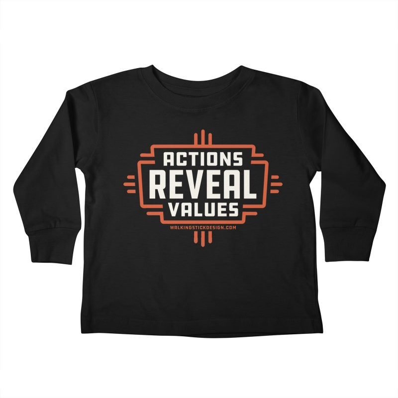 ACTIONS + WALKINGSTICK DESIGN CO. Kids Toddler Longsleeve T-Shirt by WalkingStick Design's Artist Shop