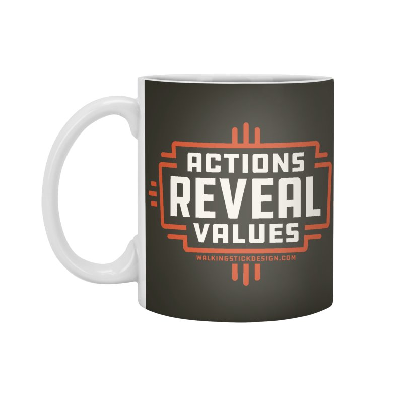 ACTIONS + WALKINGSTICK DESIGN CO. Accessories Standard Mug by WalkingStick Design's Artist Shop