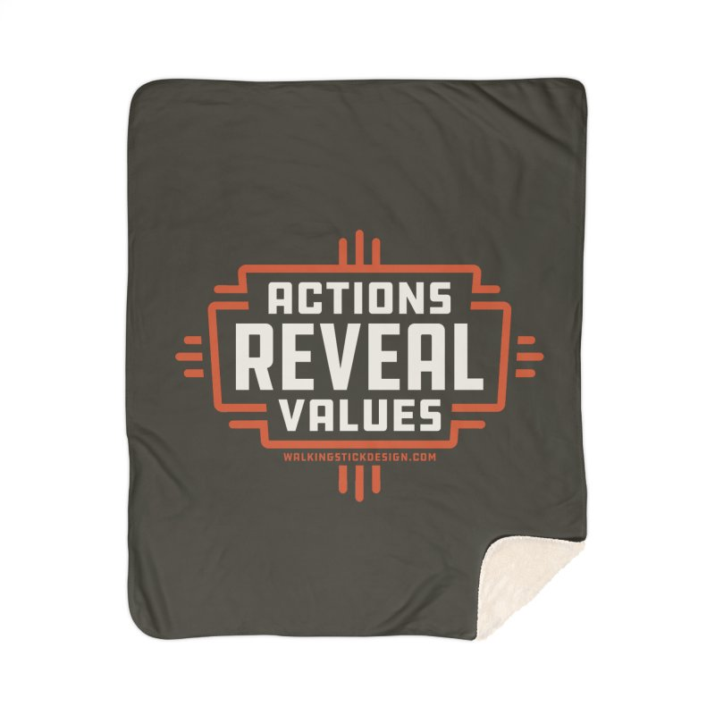 ACTIONS + WALKINGSTICK DESIGN CO. Home Sherpa Blanket Blanket by WalkingStick Design's Artist Shop