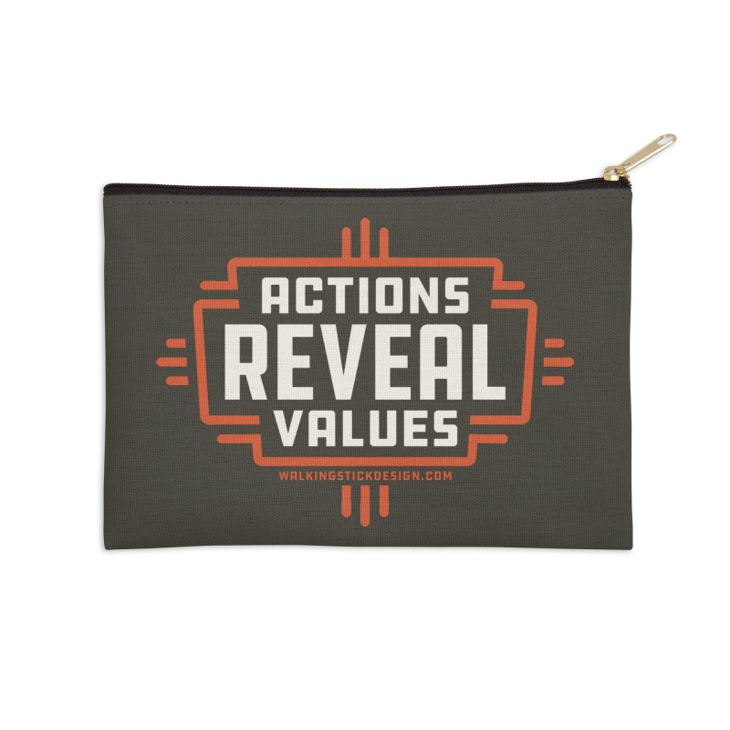 ACTIONS + WALKINGSTICK DESIGN CO. Accessories Zip Pouch by WalkingStick Design's Artist Shop