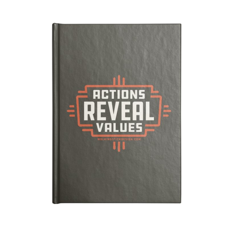 ACTIONS + WALKINGSTICK DESIGN CO. Accessories Notebook by WalkingStick Design's Artist Shop