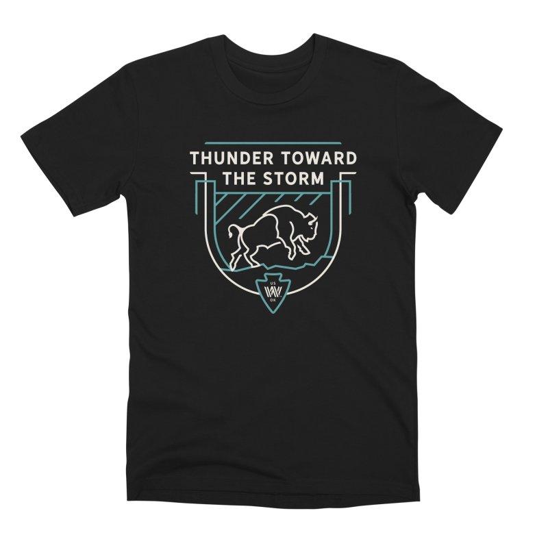 STORM + WALKINGSTICK DESIGN CO. Men's Premium T-Shirt by WalkingStick Design's Artist Shop